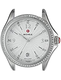 MICHELE Women's 'Belmore' Swiss Quartz Stainless Steel Casual Watch, Color:Silver-Toned (Model: MW29A01A1942)