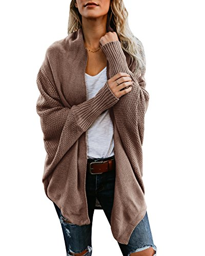 Chunky Cotton Cardigan - Fashare Womens Dolman Sleeve Cardigan Sweaters Chunky Open Front Knit Jackets