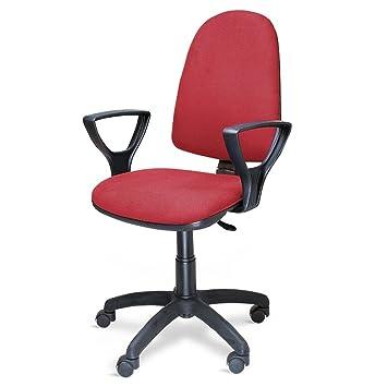 poltrona sedia ufficio con ruote altezza regolabile studio casa ... - Sedie Da Ufficio Rosse