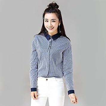Mayihang Blusa Camisa Camiseta de manga larga bordada ...