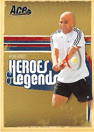 Andre Agassi trading card (Tennis Champion) 2006 Ace Authentic #1 Heroes Legends at Amazons Sports Collectibles Store