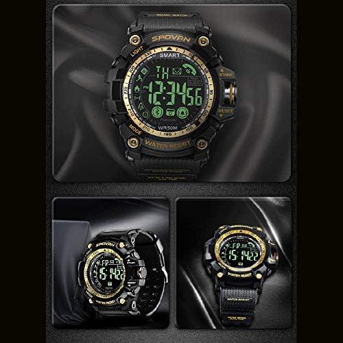ATAとU- Spovan-Mountainランニングステップ屋外スイミング多機能インテリジェントスポーツ防水電子腕時計男性 (色 : ゴールド)