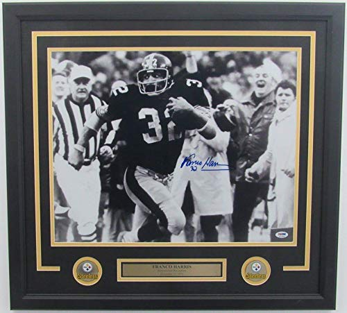 Franco Harris Steelers Autographed Signed Framed Photo Immaculate Reception Memorabilia PSA/DNA 139694
