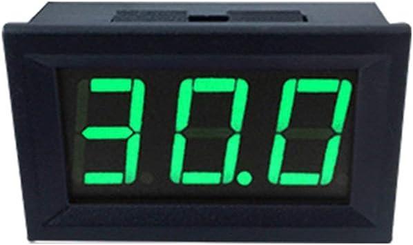 nbvmngjhjlkjlUK 0,56 Zoll 2-Draht-Mini-LED-Anzeige Digitalvoltmeter DC2,5V-40V Panel Volt Spannungsmesser Tester R/ückw/ärtsverbindungsschutz blau