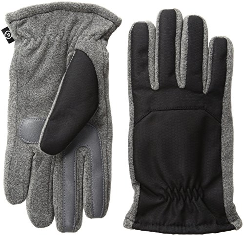 Isotoner-Mens-Matrix-Nylon-smarTouch-Gloves-with-Gather
