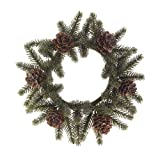 RAZ Imports ICED Pine Candle Ring, Set of 2 (3860857)