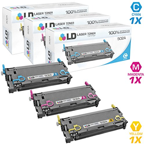 - LD Remanufactured Toner Cartridge Replacement for HP 502A (Cyan, Magenta, Yellow, 3-Pack)