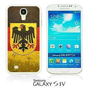 LJF phone case OnlineBestDigitalTM - Flag Pattern Hard Back Case for Samsung Galaxy S4 IV I9500 / I9505 - German Flag With Emblem