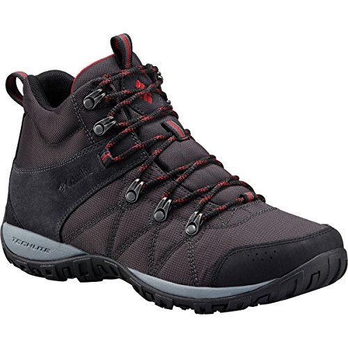 Columbia Men's Peakfreak Venture Mid LT Hiking Boot, Shark, Mountain Red, 7 Regular US by Columbia