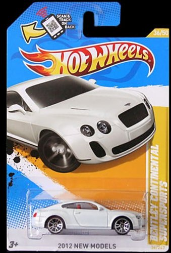 Hot Wheels 2012 Bentley Continental Supersports WHITE, 36/247, New Models. 1:64 Scale.