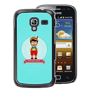 A-type Arte & diseño plástico duro Fundas Cover Cubre Hard Case Cover para Samsung Galaxy Ace 2 (Character Fairytale Kids Children)
