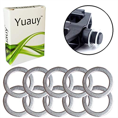 Yuyauy 10 PCs Pedal Washers 1mm Thickness Steel Replacement Silver for Moutain Bike Road - Washers Pedal