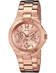 GUESS Womens U13624L1 Active Shine Multi-Function Rose Gold-Tone Sport Watch