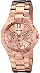 GUESS Women's U13624L1 Active Shine Multi-Function Rose Gold-Tone Sport Watch