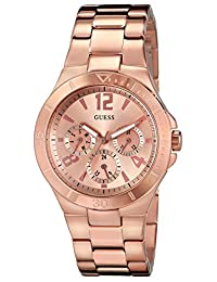 GUESS Women's U13624L1 Analog Display Quartz Rose Gold Watch