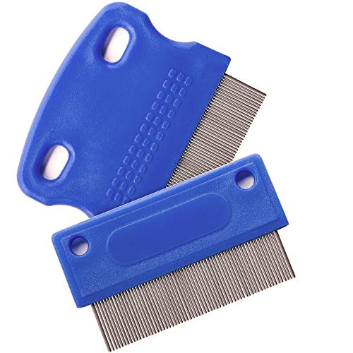 Dog Comb - Tear Stain Remover - Dog Eye Stain Remover - Dog Grooming Comb - Comb for Dogs - Gently Removes Mucus and Crust - Tear Stain Remover for Dogs - Pet Tear Stain Remover - Set of 2 (Best Tear Stain Remover)