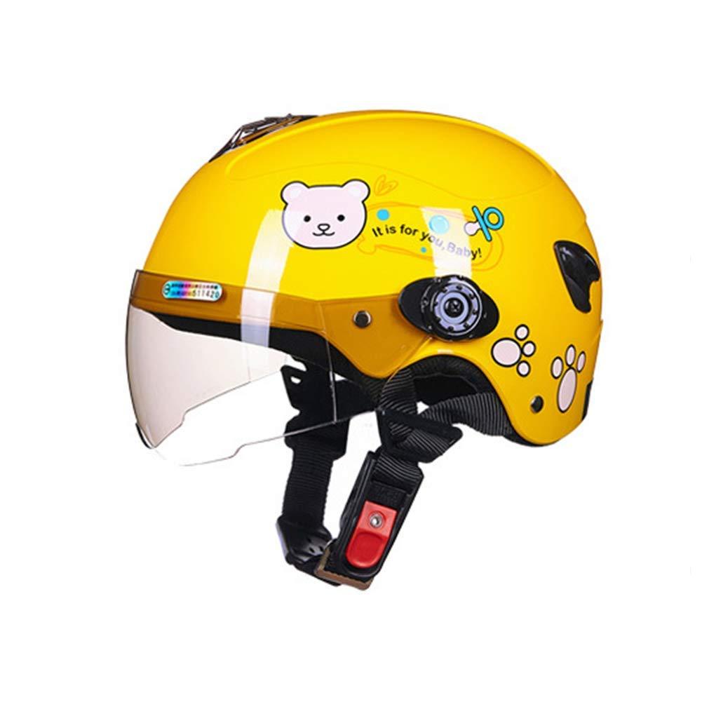 Aishankra As108 Casco para Niños Bicicleta Equilibrio Casco De Coche Sola Rueda Deslizante Casco De Equitación Equipo De Equipo De Protección,Yellow,S