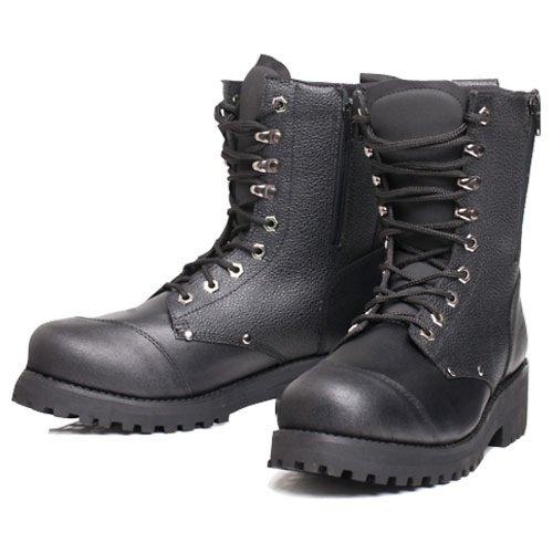 BILT Women's Commando Leather Motorcycle Boots - 9, Black