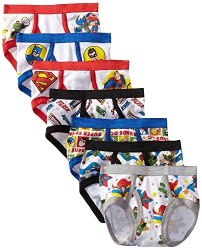 Handcraft Little Boys' Dc super Friend Brief 7 pack, Assorted, Size (Captain America Underwear)