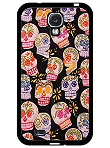 Stylish Case for Samsung Galaxy S4 I9500 ,Retro Floral Skull