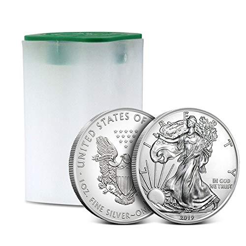 2019 1oz Silver American Eagle 20 Coin Roll Brilliant Uncirculated