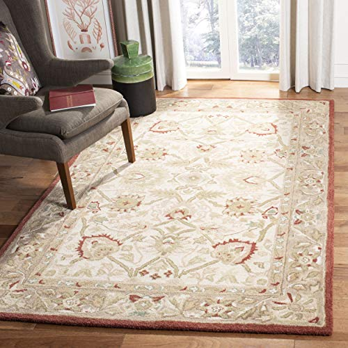 Safavieh Anatolia Collection AN512E Handmade Traditional Oriental Beige and Rust Premium Wool Area Rug (8' x ()