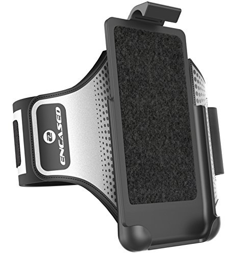 Encased Workout Armband for Otterbox Commuter Series - iPhone 8 Plus (5.5'') Sweat-Resistant Band (case is not included) by Encased (Image #2)