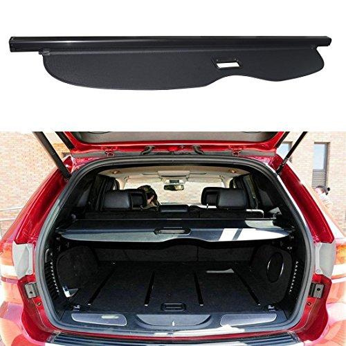 E-cowlboy Retractable Rear Trunk Organizer Cargo Luggage Security Shade Cover Shield for Jeep Grand Cherokee 2011 2012 2013 2014 2015 2016 2017 2018 ( not fit Jeep (Jeep Grand Cherokee Cargo Cover)