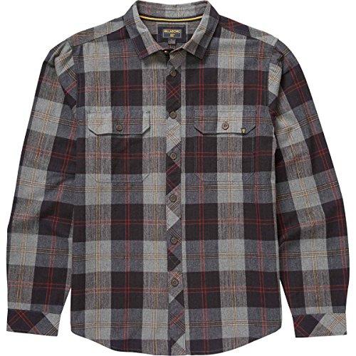 (Billabong Men's Grayson Woven Short Sleeve Shirt, Dark Grey Heather, Medium)