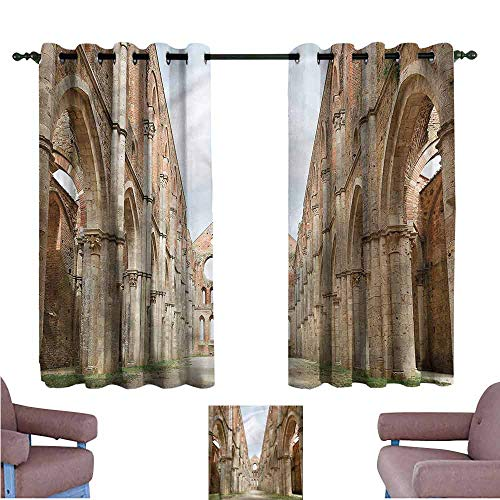 Mannwarehouse Scenery Bedroom Balcony Living Room Curtain Ancient Abandoned Abbey Home Garden Bedroom Outdoor Indoor Wall Decorations 72