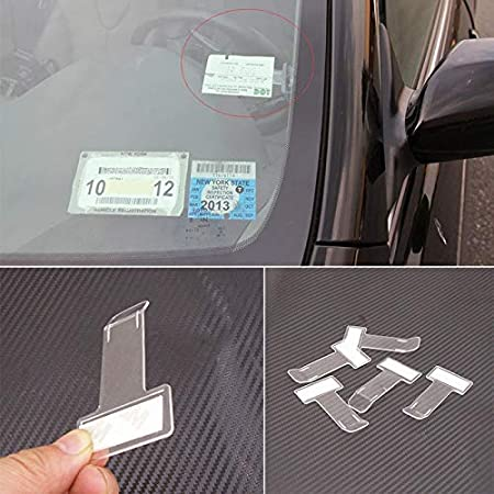 Black Auto Vehicle Universal Parking Ticket   Holder Car Card Clip Fasteners