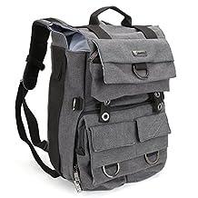 Evecase Canvas DSLR Camera Backpack w/Laptop Compartment & Rain Cover for Nikon D7200, D750, D810, D800/D800E, D700, D610, D600, D90, D80, D60, D4S, D4, D7100, D7000, D5300, D5200, D3300 (Gray)