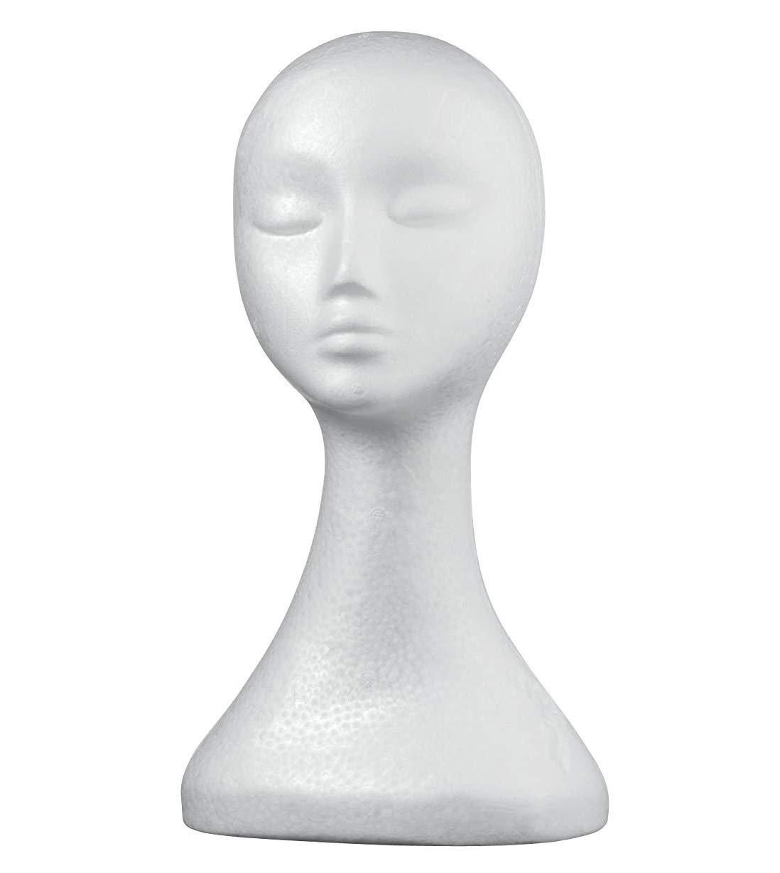 spirworc hlan Donna Testa di polistirolo Occhiali Supporto Cappello supporto & parrucca testa/Lady modello testa Extra alto Mannequin Head in gommapiuma SpirWoRchlan