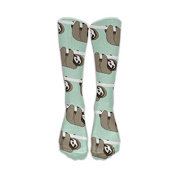 Cute Sloth Unisex Comfortable Pattern Crew Socks Athletic Socks For Boys And Girls -