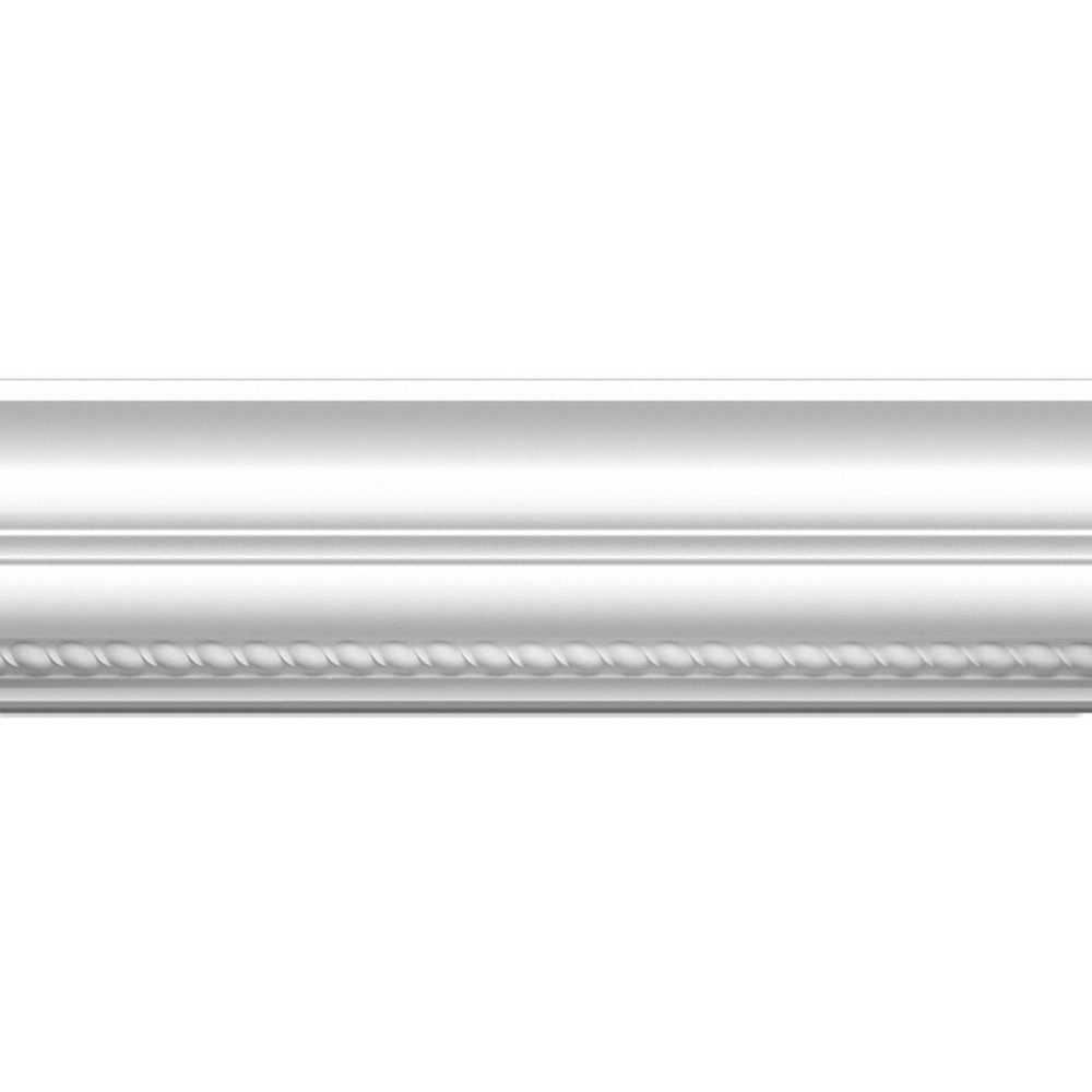 Focal Point 23620 Rope Crown Moulding 5 7/8-Inch by 8 Foot, Primed White, 6-Pack