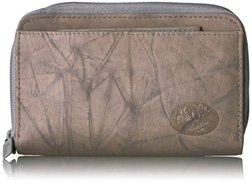 Buxton Heiress Double Zip Organizer Wallet, Grey