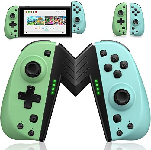 ECHTPower Wireless Controller for Nintendo Joycon Switch, Macro Button/Turbo/Vibration/Motion Functions, L/R Switch Controller Joypad, Wireless Controllers for Nintendo Switch- Turquoise