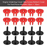 Keenso 20Pcs Engine Undertray Cover Clips Screws Bottom Shield Guard for Ford Focus Mondeo