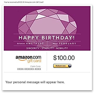 Amazon Gift Card - Email - Birthday Birthstone: February (Amethyst) (B00N5944V4) | Amazon price tracker / tracking, Amazon price history charts, Amazon price watches, Amazon price drop alerts