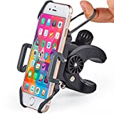 Bike & Motorcycle Phone Mount - For iPhone Xs (Xr, X, 8, 7, 6, Plus/Max), Samsung Galaxy S10 or any Cell Phone - Universal Handlebar Holder for ATV, Bicycle or Motorbike. +100 to Safeness & Comfort