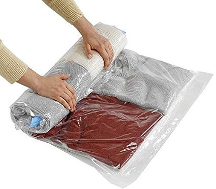 Wenko 3792780100 - Bolsa de plástico para almacenaje al vacío Enrollado y compresión, Ahorra hasta un 75% de Espacio, Fabricada en plástico y Nailon ...