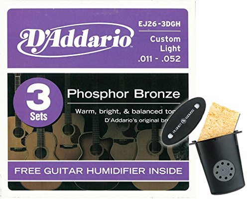 D'Addario EJ26 Phosphor Bronze Acoustic Guitar Strings - .01