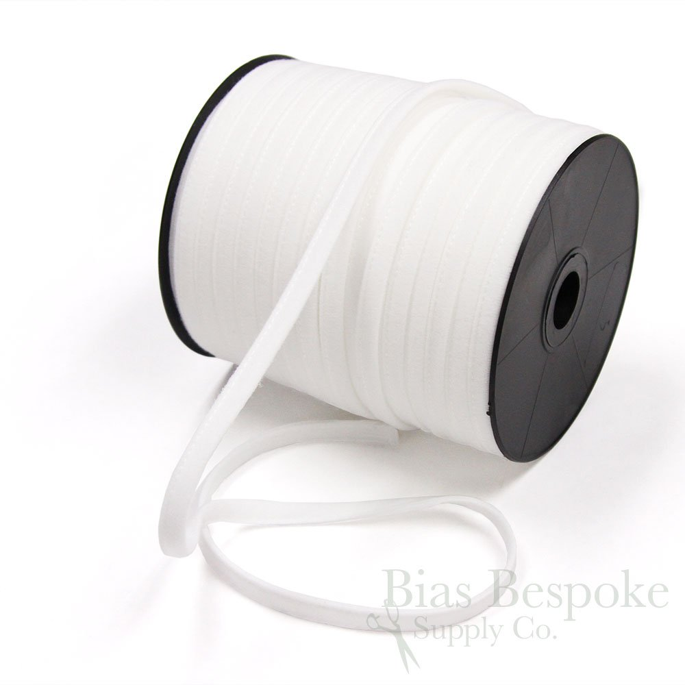 12 Yards of UMA Plush Bra Underwire Casing, Natural White (Dyeable), Made in Italy Tescona CB-U52-00-12