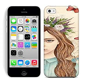 Best Power(Tm) HD Colorful Painted Watercolor Butterflies By Ireneshpak Dkrrf Hard Phone Case For Iphone 5C wangjiang maoyi