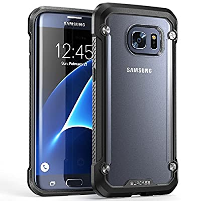 Galaxy S7 Edge Case, SUPCASE Unicorn Beetle Series Premium Hybrid Protective Clear Case for Samsung Galaxy S7 Edge 2016 Release, Retail Package (Frost/Black)