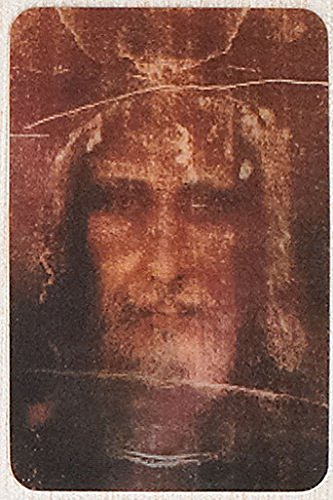 Shroud of Turin Face of Christ 3D Holographic Holy Card