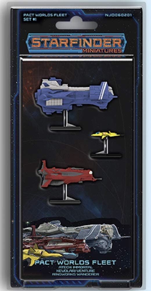 Ninja Division Publishing Starfinder Miniatures: Pact Worlds Fleet Set 1