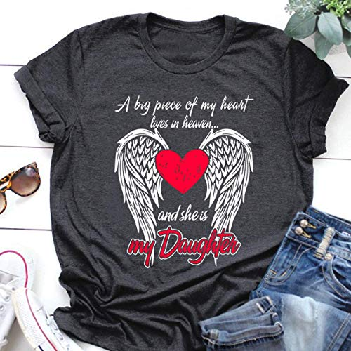 Father Day Shirt A Big Piece Of My Heart Lives In Heaven And She Is My Daughter T Shirt Hoodie
