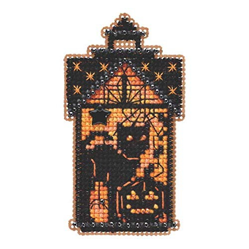 Taboo Kitty Beaded Counted Cross Stitch Ornament Kit Mill Hill 2019 Autumn Harvest MH181921