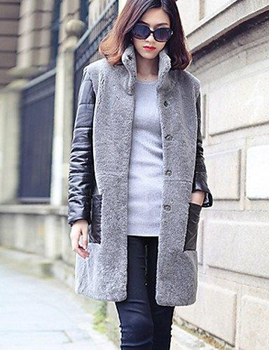 ZLL Cappotto di pelliccia Da donna Casual Inverno Semplice